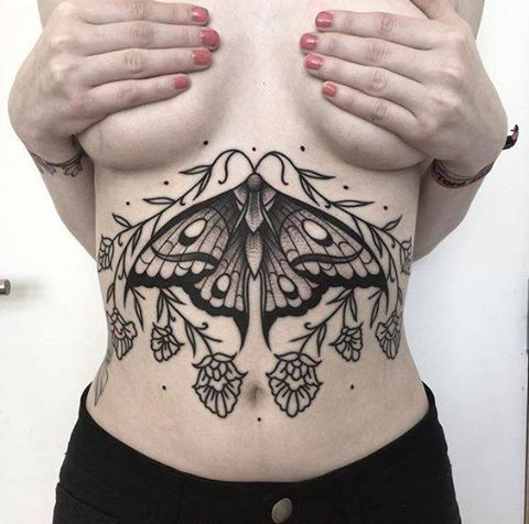 butterfly sternum tattoo november 2017 pain magazine. Black Bedroom Furniture Sets. Home Design Ideas